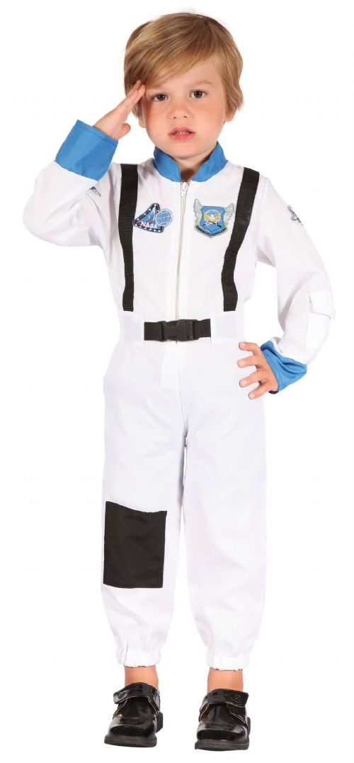 Boys Astronaut Toddler Costume NASA Space Pilot Fancy Dress Outfit